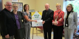 Charlie Oliver of Martek Morgan Finch presented a cheque to the St. Patrick's Mercy Home Foundation to cover the cost of an overhead electric ceiling lift. Charlie donated in loving memory of his Grandmother, Bride Murphy, for the compassionate care and kindness she received here at St. Patrick's Mercy Home.